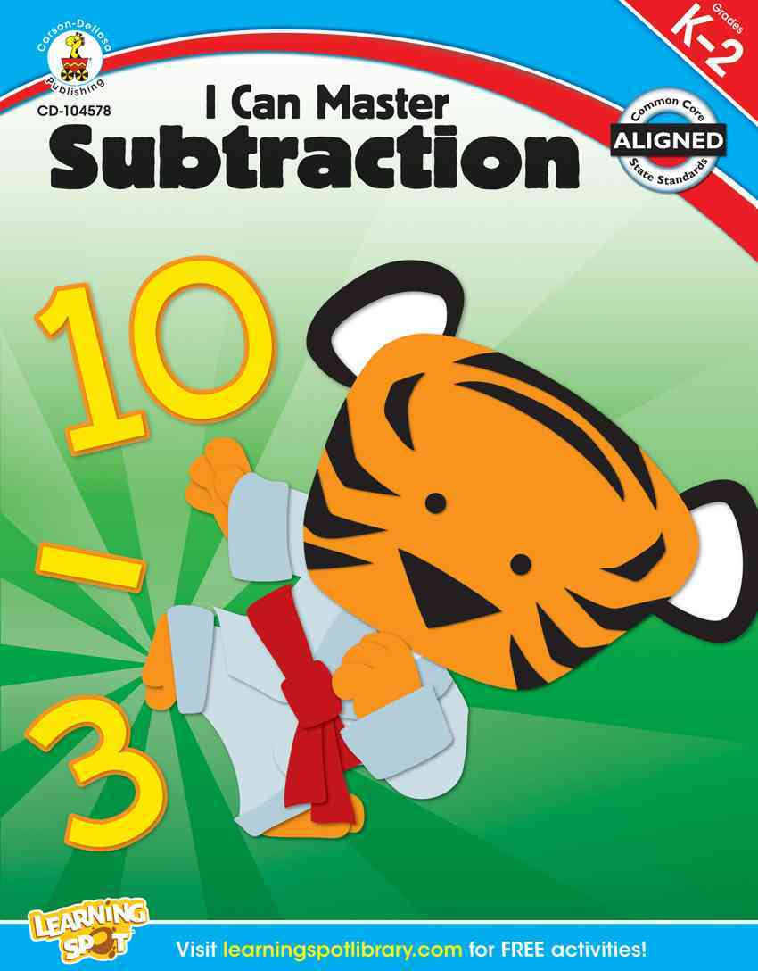 TheReadingWarehouse.com:I Can Master Subtraction, Grades K - 2 ...